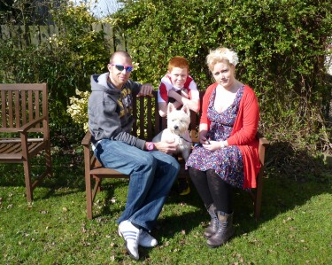 Owen Bannister and his family