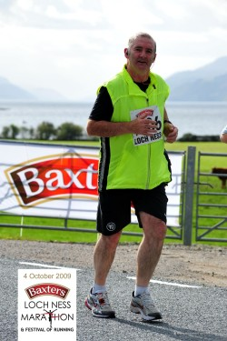 Sandy Brown running a marathon